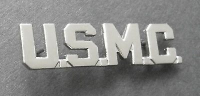 4c7ef9305af Usmc Marine Corps Us Marines Cutout Script Lapel Pin 1.75 Inches Silver  Colored