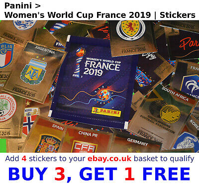 Panini Womens WOMEN'S WORLD CUP France 2019 | SELECT YOUR >> SHINY FOIL Stickers