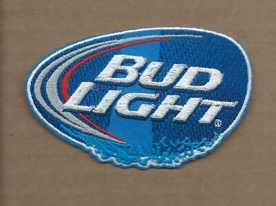 New 2 1/4 X 3 3/4 Inch Bud Light Beer Iron On Patch Free Shipping