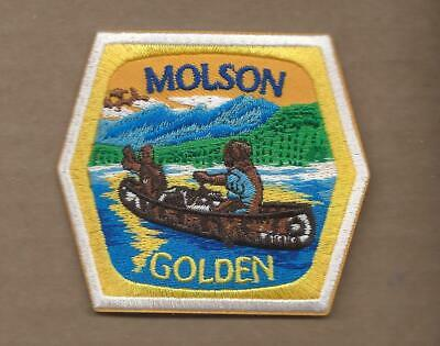 New 2 3/4 X 3 Inch Molson Golden Beer Iron On Patch Free Shipping