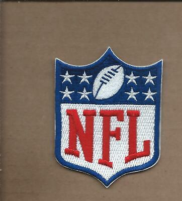 New 2 5/8 X 3 1/2 Inch Nfl Logo Shield Iron On Patch Free Shipping