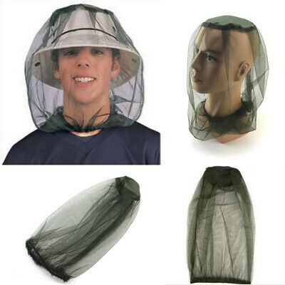 Mesh Bug Head Net Camping Midge Insect Protector Mosquito Hat Travel Face Wide
