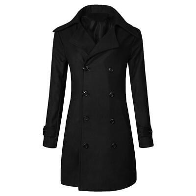 Brand New Men's Formal Winter Wool Long Coat Double Breasted  RRP$80.00