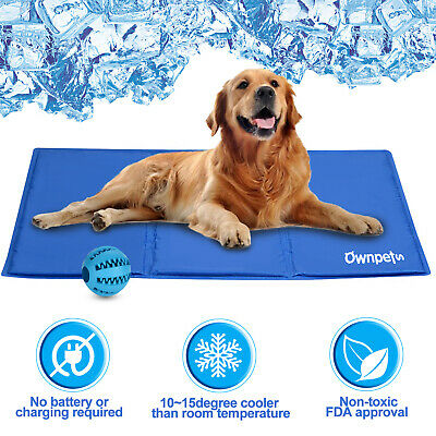 Dog Cooling Mat Pad Gel Cooler For PET Crate Bed Comfort Chilly Beds S/L size