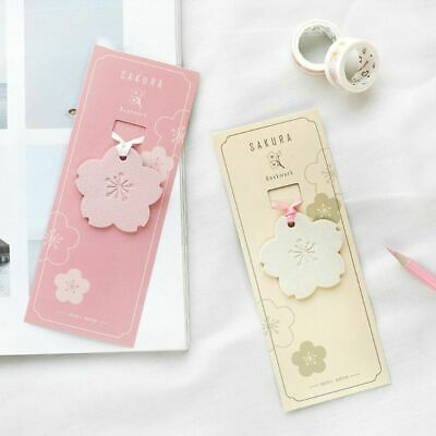 Sakura Flower Leather Bookmark Creative Gifts DIY Student Stationery Page Clip