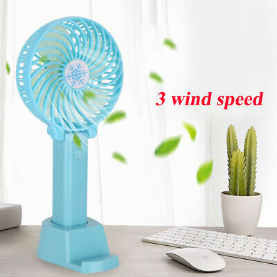 Mini Portable Tenu àMain Bureau Ventilateur Rechargeable USB Pliable Air Cooler