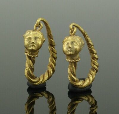 FABULOUS ANCIENT GREEK GOLD EARRINGS - 4th-1st Century BC 0112