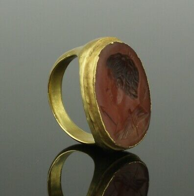 FABULOUS ANCIENT GREEK GOLD INTAGLIO RING - 4th-1st Century BC 223