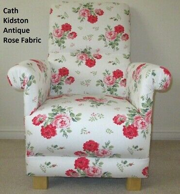 Cath Kidston Antique Rose Fabric Children's Chair Armchair Pink Floral Kids New
