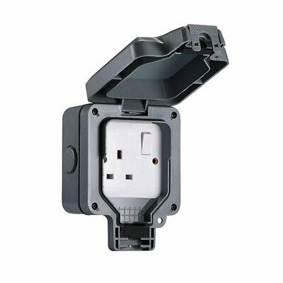 Ip66 Waterproof Outdoor 13A Single Socket Storm Switched Outside Use 1 Gang