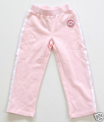 Neu All Star Converse Kids Girl Trainingshose Hose Pants Jogging rosa Gr.90-96