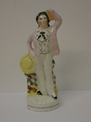 Antique Victorian Staffordshire Figure Sailor poss T P Cooke as Ben Backstay