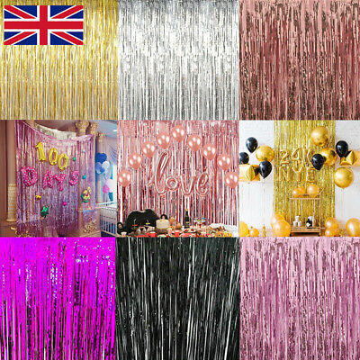3M Foil Fringe Tinsel Shimmer Curtain Door Wedding Birthday Party DECORATIONS W
