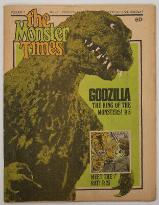 The Monster Times Volume 1, No. 23 Godzilla King of Monsters