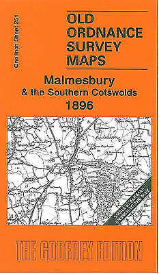 OLD ORDNANCE SURVEY Malmesbury & the Southern Cotswolds 1896 1 Inch Sheet 251