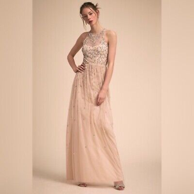 b24aeca2d384 New BHLDN size 12 Sequin Embellished Ginny Bridesmaid Dress Anthropologie