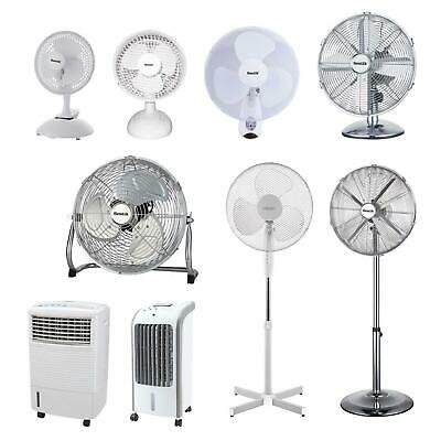 Pedestal Cooling Fan Desk Fans Oscillating Stand Standing Home Office 3 Speed