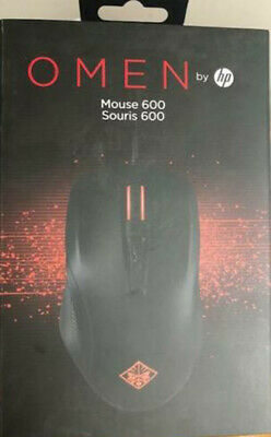 NEW OMEN MOUSE HP 600 - Optical Cable USB 12000 dpi Black