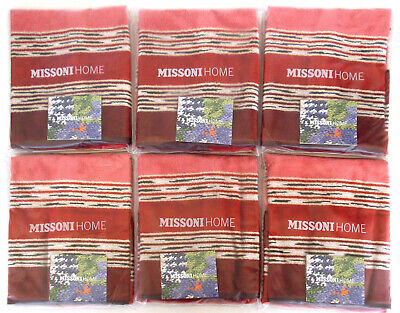 MISSONI HOME  SEI asciugamani OSPITE GIFT PACKAGING NORMAN 156 SIX HAND TOWELS