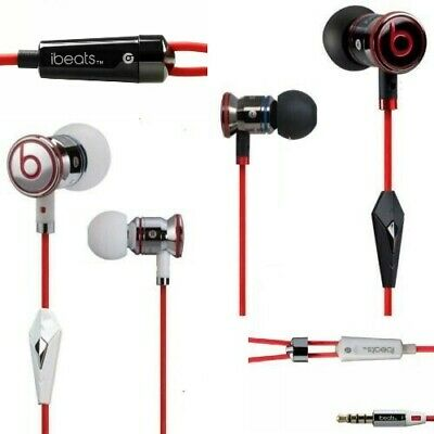 GENUINE OFFICIAL MONSTER BEATS By Dr. Dre iBEATS EARPHONES HEADPHONES HANDSFREE