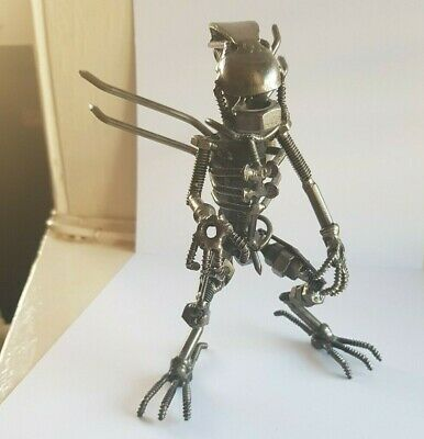 Scrap Metal Alien Sculpture Nuts and Bolts Handmade Collectable Figure 1