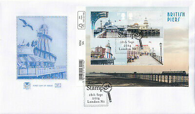 (29907) CLEARANCE GB Stuart FDC British Piers STAMPEX London N1 2014