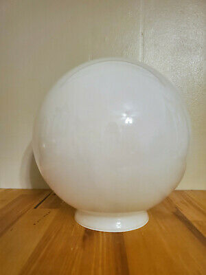 """Vintage Mid Century Frosted Glass Ceiling Light Globe Lamp Shade 8"""" replacement"""