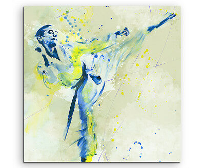 Karate IV 60x60cm SPORTBILDER Paul Sinus Art Splash Art Wandbild Aquarell Art