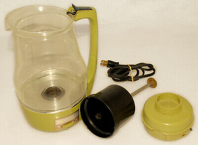 Proctor Silex - Avocado Glass Model 70702 Cup Electric Coffee Pot Percolator VTG