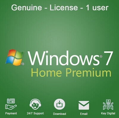 Windows 7 HOME PREMIUM 32 & 64 BIT Download KEY For 1 PC Activation Genuine