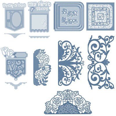 Pocket Lace Borders Stencil Scrapbooking Embossing Paper Card Crafts Die-cutting