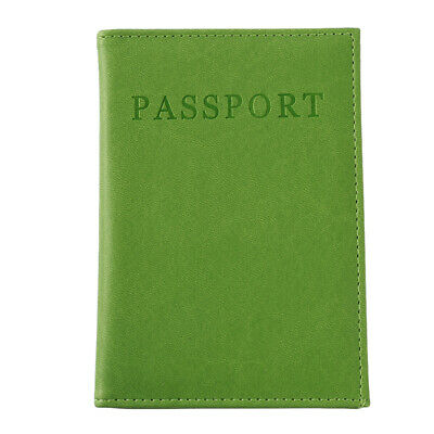 PU leather Travel Passport Holders Organizer Protector Cover Document Bag LA