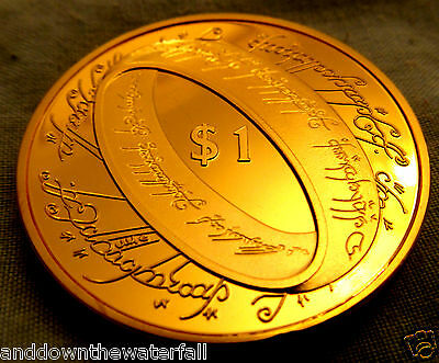 Lord of the Rings Gold Coin Magic Story Legend World Famous Movie Book Fun LOL