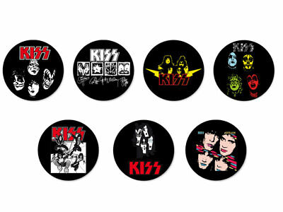 Lot Pack Badge Button Ø25mm Kiss Band Groupe Hard Rock USA