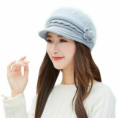 Warm Lady Beret Braided Baggy Beanie Crochet Hats Airline Stewardess Knitted Cap