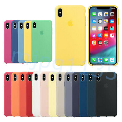 For Apple iPhone XS XR XS MAX Original Silicone Case Genuine OEM Silicone Cover