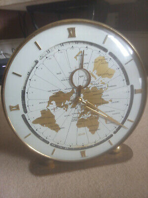 KUNDO (Kieninger & Obergfell) WORLD CLOCK. West German 1950's 8 day manual wind