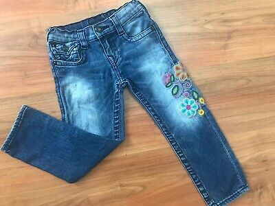 Girls AUTHENTIC Blue TRUE RELIGION JEANS (age4) *NICE COND*