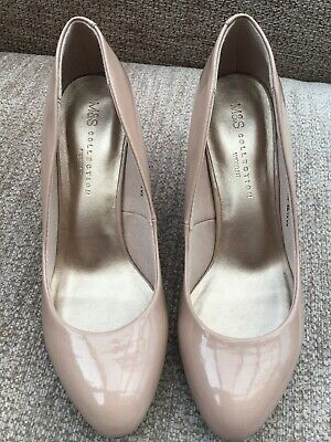 d4ee9e0a9600 Ladies Court Shoes Marks & Spencer Insolia Nude Patent 5 Wide Fit GREAT COND