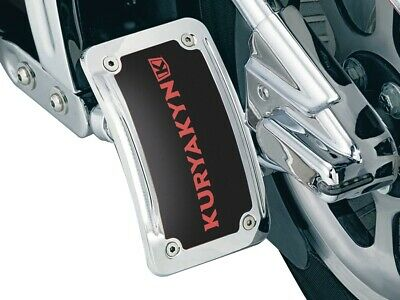 Kuryakyn Chrome Curved Vertical License Plate Side Mount Harley Custom Chopper