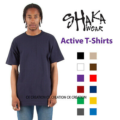 Shaka Wear Active Plain Casual Crew Neck Short Sleeve T-shirts