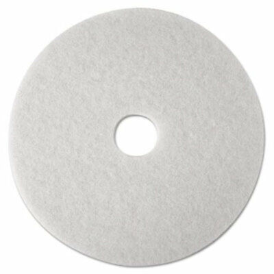 "3M 20"" Super Polishing Floor Pads in White 4100, 5 Pads (New Damaged Box)"