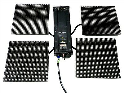 Lot 4 Galaxia Winvision Rgb Led Ldm 32X32 Stage Wall Backdrop Panel+V250-05U Psu