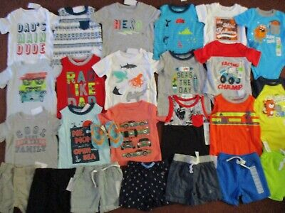 NWT 25 Piece Baby Boys Size 12-18 Months Summer Lot of Clothes Outfits NEW!