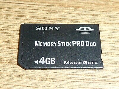 4GB SONY MEMORY STICK PRO DUO CARD for SONY PLAYSTATION PSP MS 4 GB MagicGate