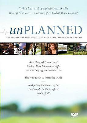 Unplanned by Abby Johnson DVD-Video Book Free Shipping!