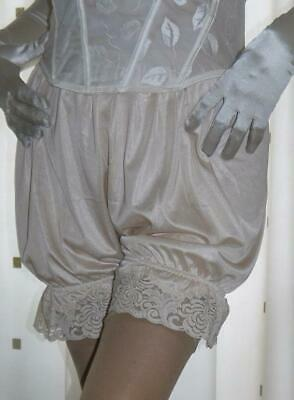 DEEP PINK SATIN BLACK   LACE BLOOMERS VICTORIAN LOOK  30-46W