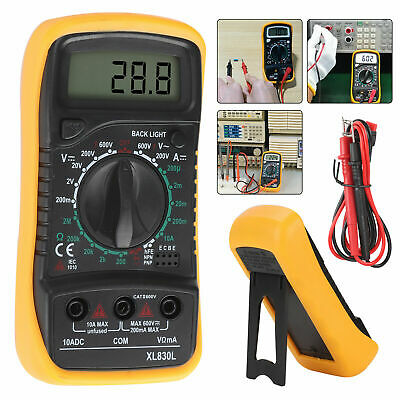 LCD Digital Multimeter Voltmeter Ammeter DC AC OHM Current Circuit Buzzer Tester