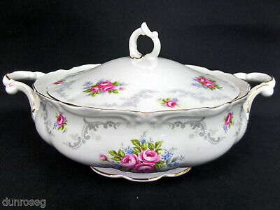 TRANQUILITY LIDDED VEGETABLE TUREEN, 1st QUALITY, GC, 1969-2001, ROYAL ALBERT