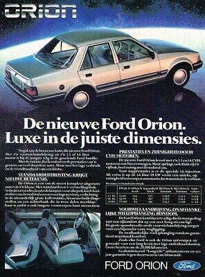 1983 Ford Orion (NL, 1pg.) Advertisement 0694